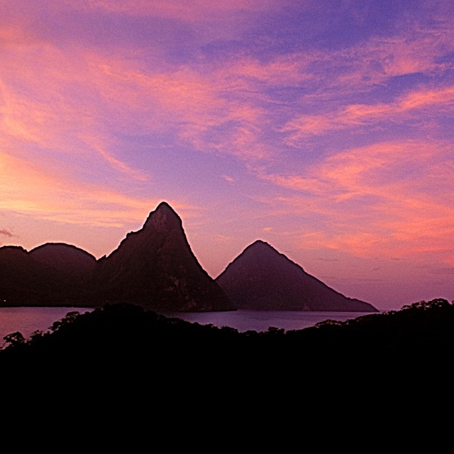 Passionate #stlucia #sunsets! #caribbean #ansechastanet #travel #pink #sky #love