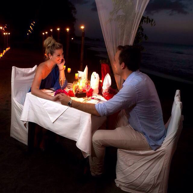 Dinner under the twinkling stars near the lapping ocean waves... Date night is so romantic! #ansechastanet #luxury #travel #stlucia #romance #love
