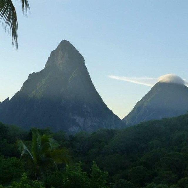 Beautiful day in #StLucia! #Regram @trish1918 #luxury #travel #AnseChastanet #pitons #beauty #nature #paradise #island
