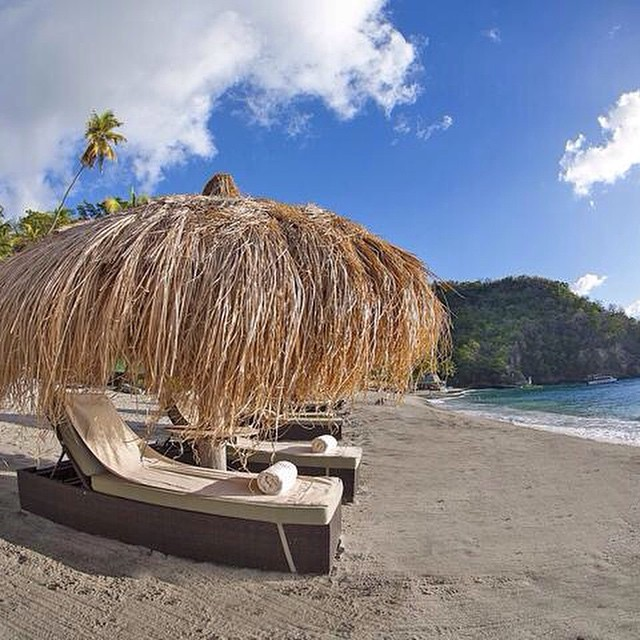 There is much to be thankful for at #AnseChastanet! #luxury #travel #stlucia #beach #paradise #blue #sky #sand