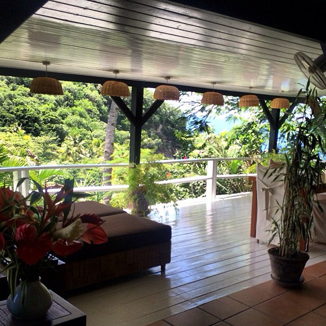 @emmajaniekelly enjoying balcony views at #AnseChastanet! #luxury #travel #beauty #bliss #StLucia #paradise #regram #pitons