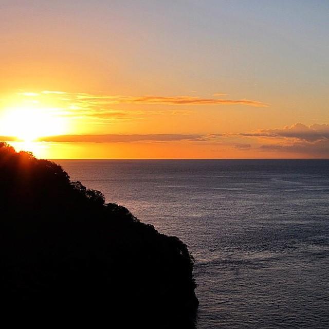 St. Lucia sunsets. #regram @begratefulandlove #luxury #travel #ocean #sun #bliss #beauty #AnseChastanet #resort #vacation